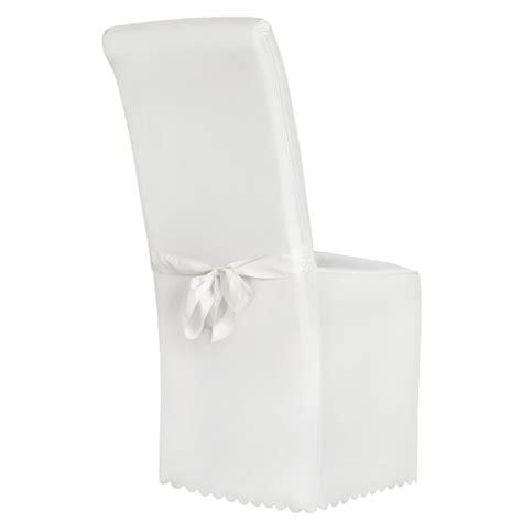 housse de chaise blanche jet 233 universel habillage chaise