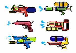 Free Water Gun Vector - Download Free Vector Art, Stock ...