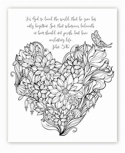 Coloring Pages Adult Sheets Bible Study Scripture