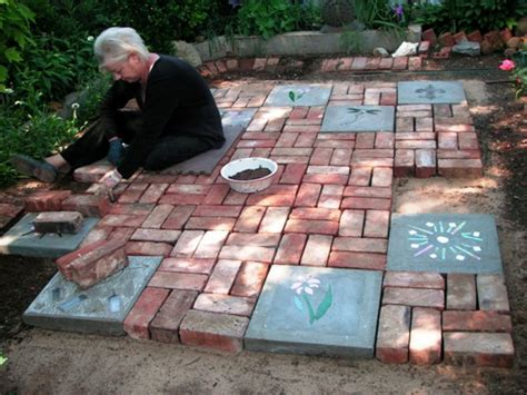 Becky's big patio project   Flea Market Gardening