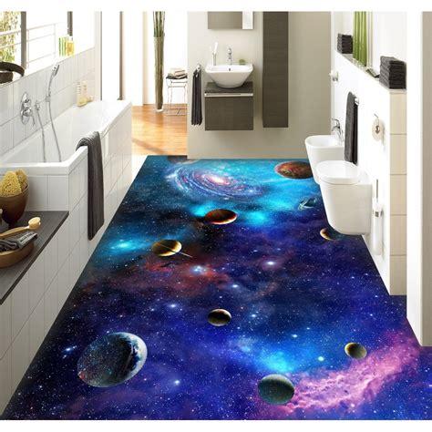 pvc flooring custom wall sticker star galaxy