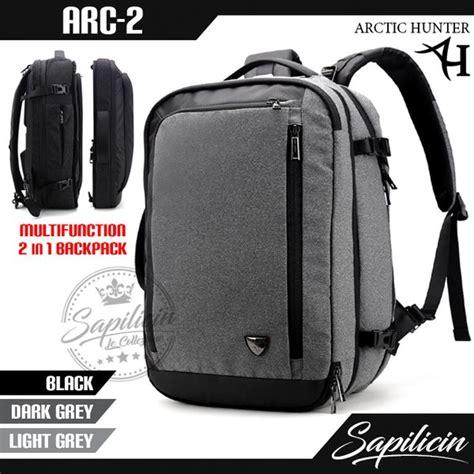 jual tas ransel pria unik gadget laptop 17 inch multifungsi arctic 2 in 1 backpack arc 2
