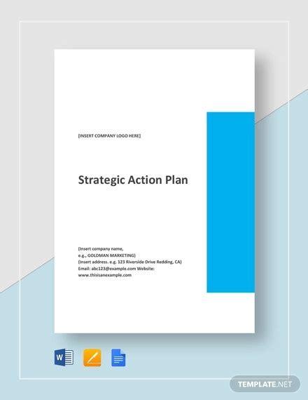 page strategic plan templates  word