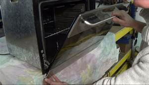How To Repair A Cooker Door Glass Has Come Loose On The Bracket Or Hinge