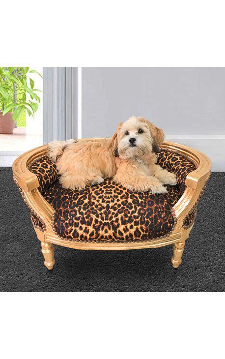 canap lit pour chien canapé lit pour chien ou baroque tissu leopard et