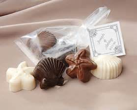 starfish wedding favors chocolate shell and starfish favor with personalized tag