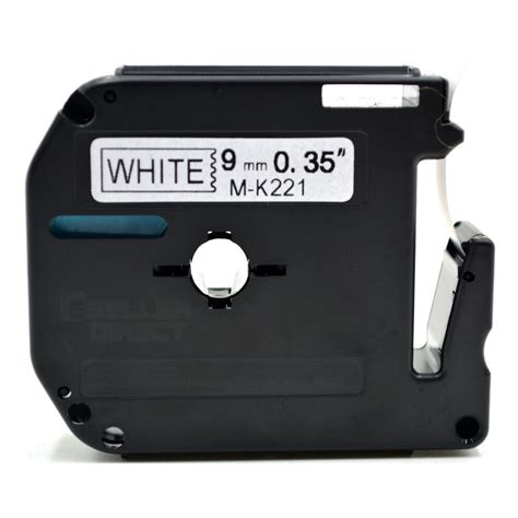 compatible brother mk  p touch black  white label