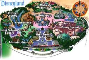 Disneyland California Park Map