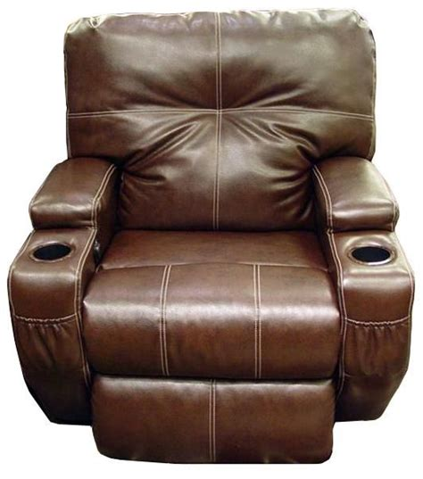 recliner with cup holder leather power recliner with cup holders home decor
