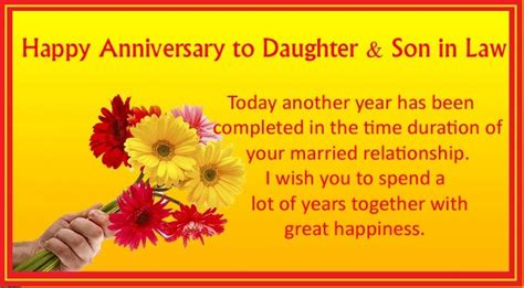 happy anniversary  daughter  son  law wisheslover