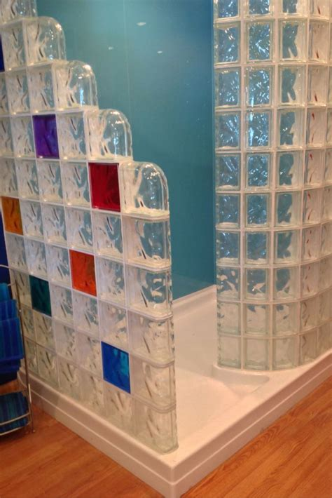compare shower pans   glass block wall glass