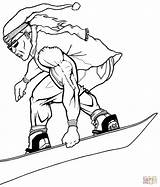 Snowboarder Snowboarding Coloring Pages Muscular Super Snow Winter Printable Sport Launches Draw Aliens Sketches sketch template