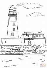Lighthouse Coloring Pages Longstone Printable Drawing Realistic Template Lighthouses Print Scenes Dot Adults Games Puzzle Templates sketch template