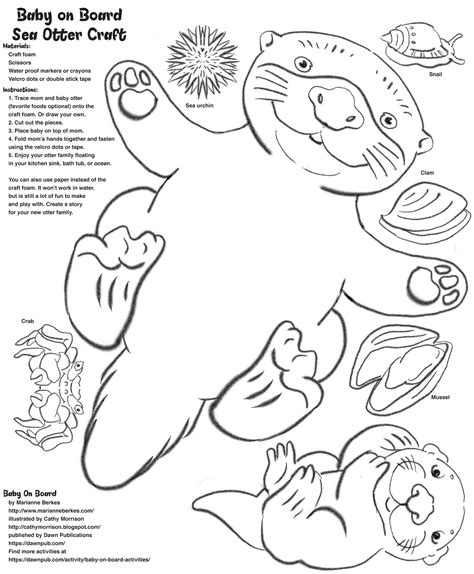 Otter Coloring Pages Collection Free Coloring Books