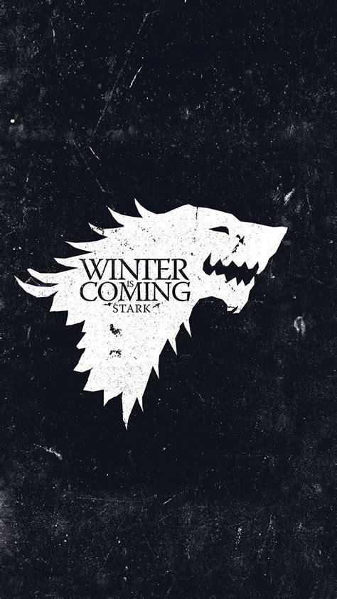 stark wolf game  thrones winter  coming grunge iphone
