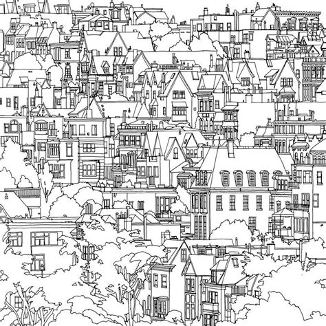 highly detailed coloring book for adults features famous