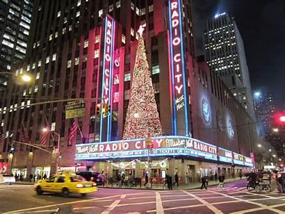 Christmas York Nyc Radio Hall Windows Storefronts