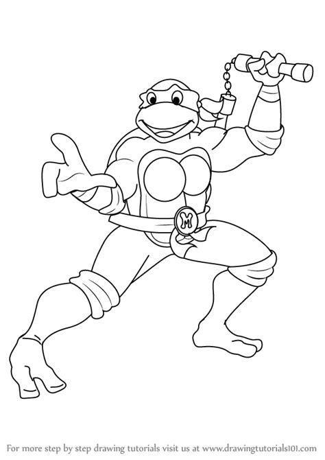 learn   draw michelangelo  teenage mutant ninja
