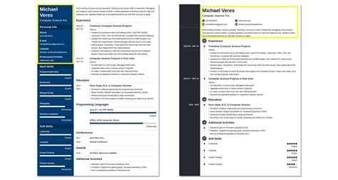 professional resume header exles why they work 20 tips