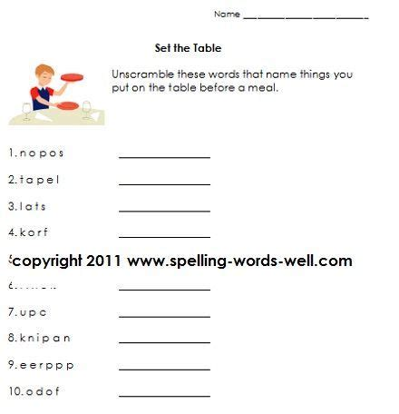 grade language arts worksheets