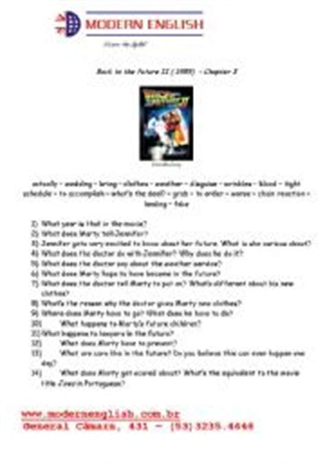 worksheets back to the future 2