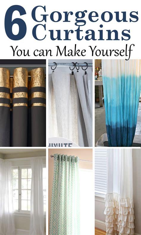 diy home sweet home 6 gorgeous diy curtains