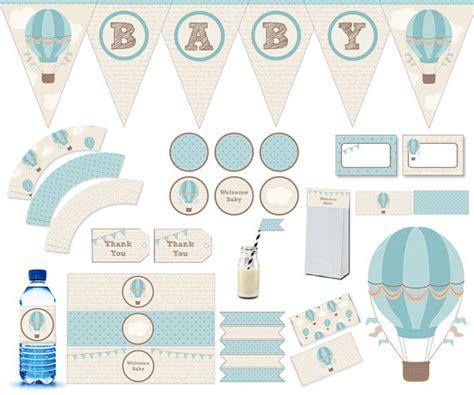 baby shower printable printable decoration baby shower baby printable air balloon banner water