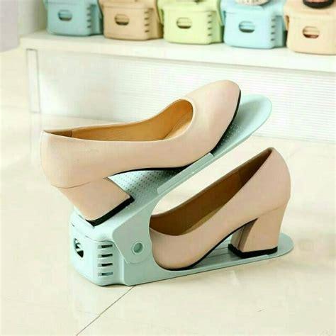 Rak Sepatu 2 Susun gohshop rak sepatu 2 susun fleksibel tinggi rendah