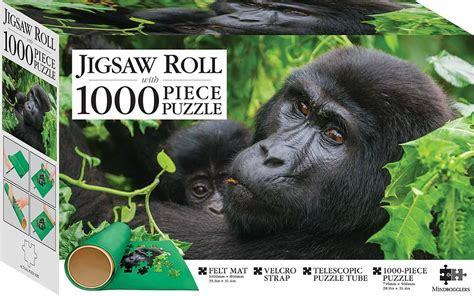Gorillas, Uganda 1000 piece Jigsaw with Mat   1000 Piece