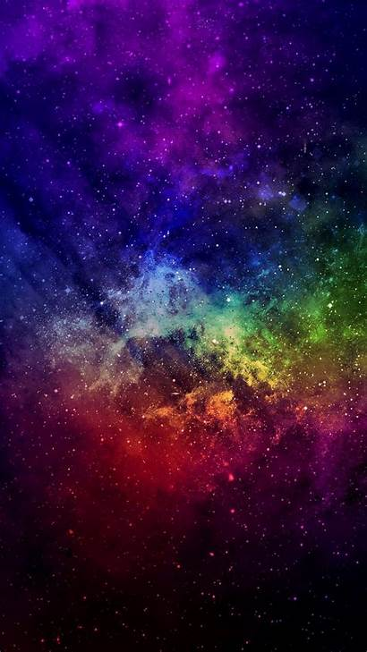 4k Phone Galaxy Space Rainbow Colorful Planets