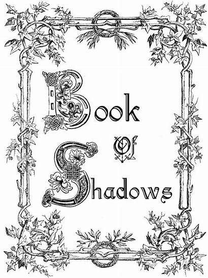 Shadows Pages Wicca Books Bos Witch Printable