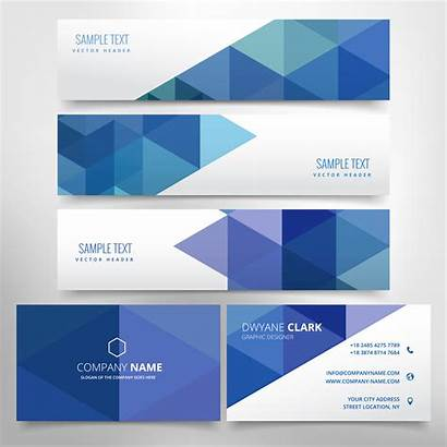Header Business Abstract Card Vector Graphics