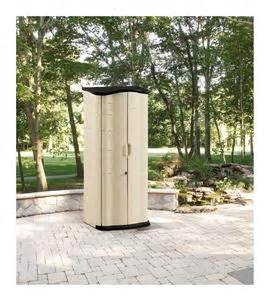 new vertical storage shed rubbermaid cabinet outdoor lawn garden 17 cubic ft ebay