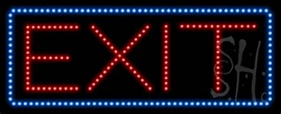 Exit Sign Animated Led Signs Neon Business
