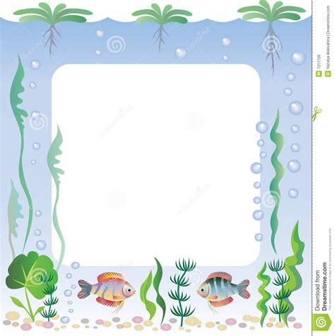 aquarium frame stock vector illustration  sketch