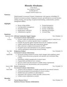 resume skills and abilities administrative assistant government military resume exles government military sle resumes livecareer