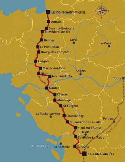 Carte Mont Michel by Les 233 Du Chemin Des Marais Salants Les Guides Lep 200 Re