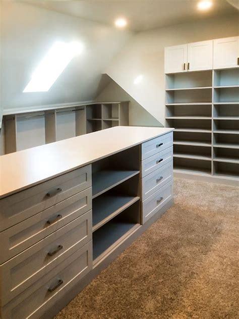 bonus room closet ideas  angled ceilings