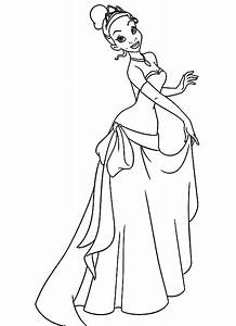 Tiana and Naveen Coloring Pages | ... Tiana Is The Girl ...