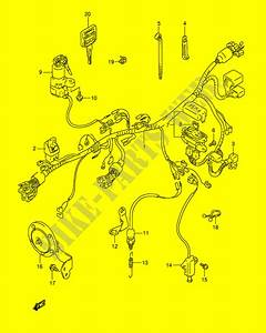 Wiring Harness  Model M  N  P  R  For Suzuki Dr 800 1996