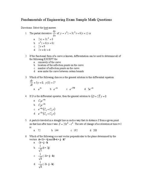 fe math practice trigonometric functions eigenvalues