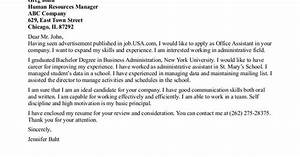 Cover Letters For Administrative Assistant Sample Resume Cover Letter Medical Office Assistant