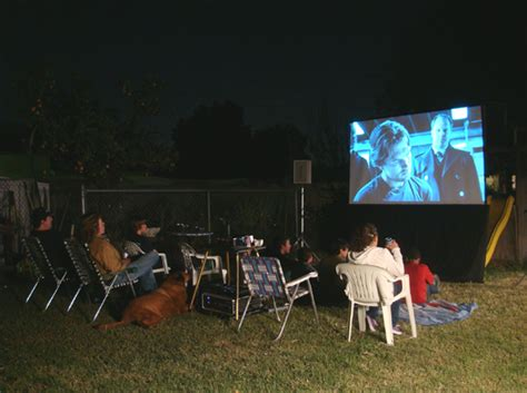 Projector For Backyard Movie Night