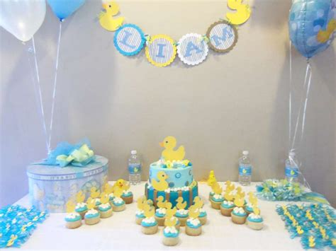 ducky baby shower decorations rubber ducky baby shower ideas photo 5 of 6