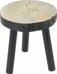 Tabouret Bas Bois : tabouret bas bois noir tronc ~ Teatrodelosmanantiales.com Idées de Décoration