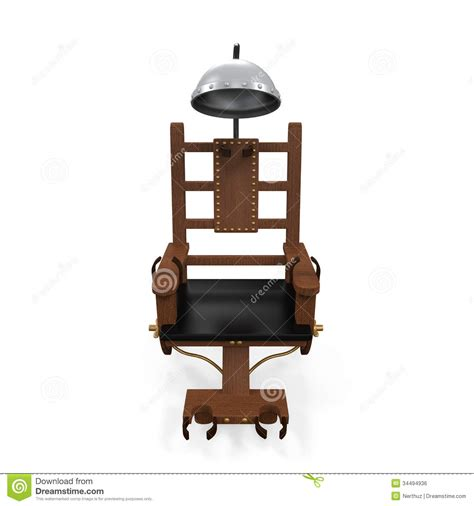 execution chaise electrique electric chair isolated royalty free stock image image