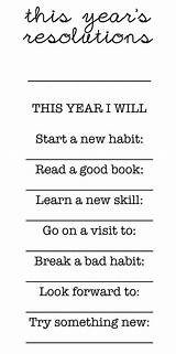 New year's resolution activity for teens