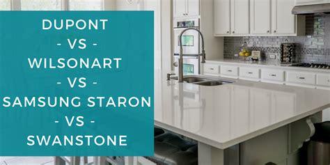 Corian Vs Staron by Dupont Vs Wilsonart Vs Samsung Staron 174 Vs Swanstone