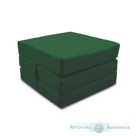 cotton fold out cube guest z bed chair stool single