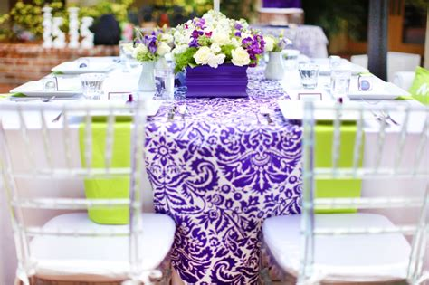 wedding decoration purple and green modern purple green wedding inspiration every last detail